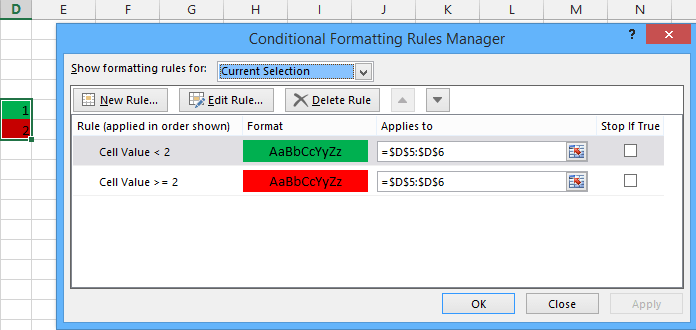 Conditional Formatting Shapes - Step by step Tutorial