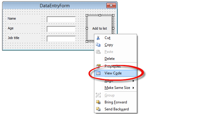 Data Entry using UserForm - Excel VBA Form Controls