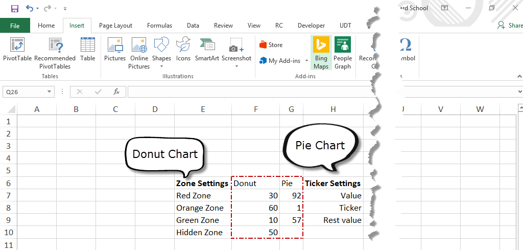 How to create a pie chart from raw data in excel